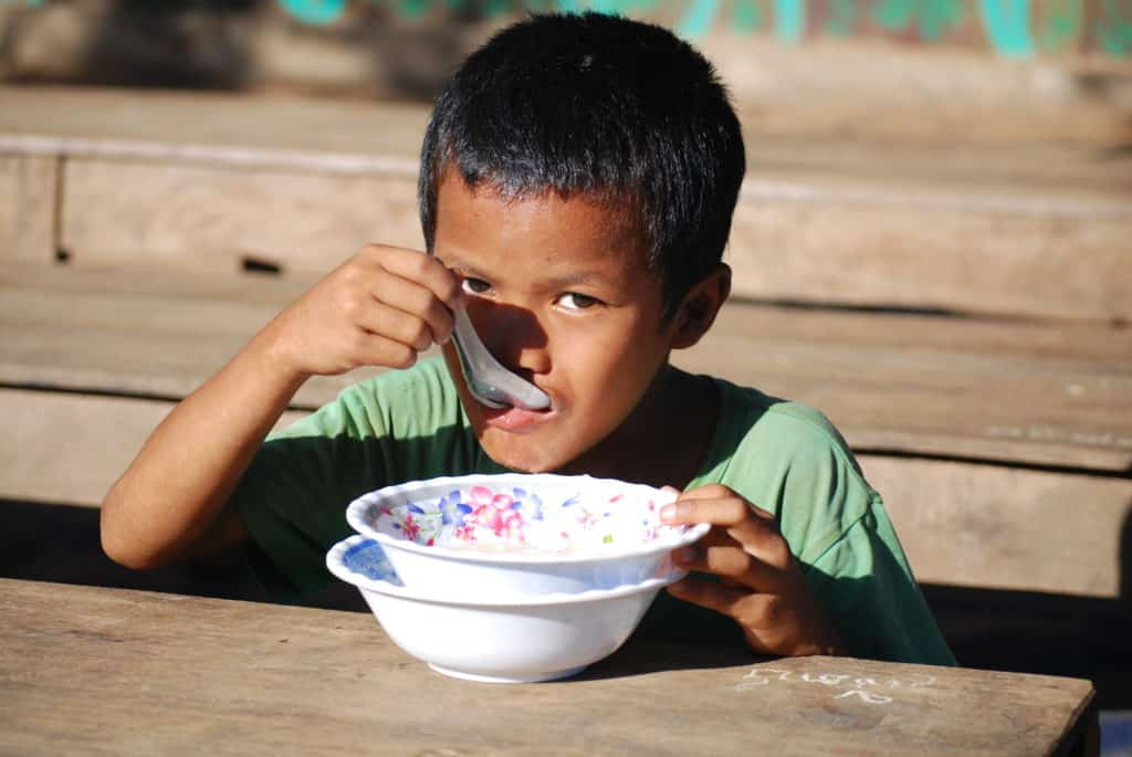 Nepalese Child Eating